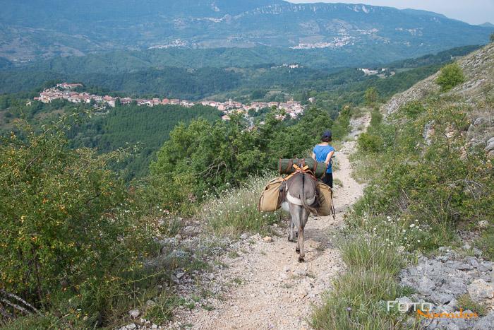 Eselwandern Italien unterwegs