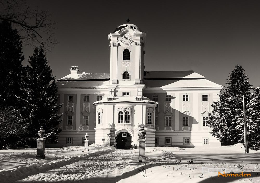 Schloss Rosenau bei Zwettl im Winter