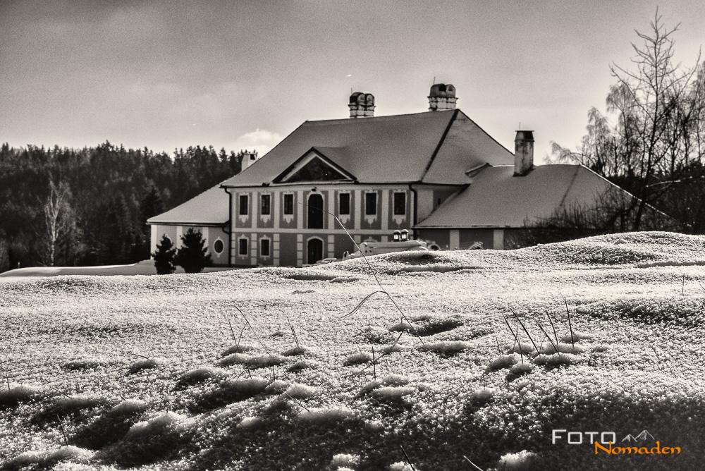 Schloss Rosenau Wanderung im Winter