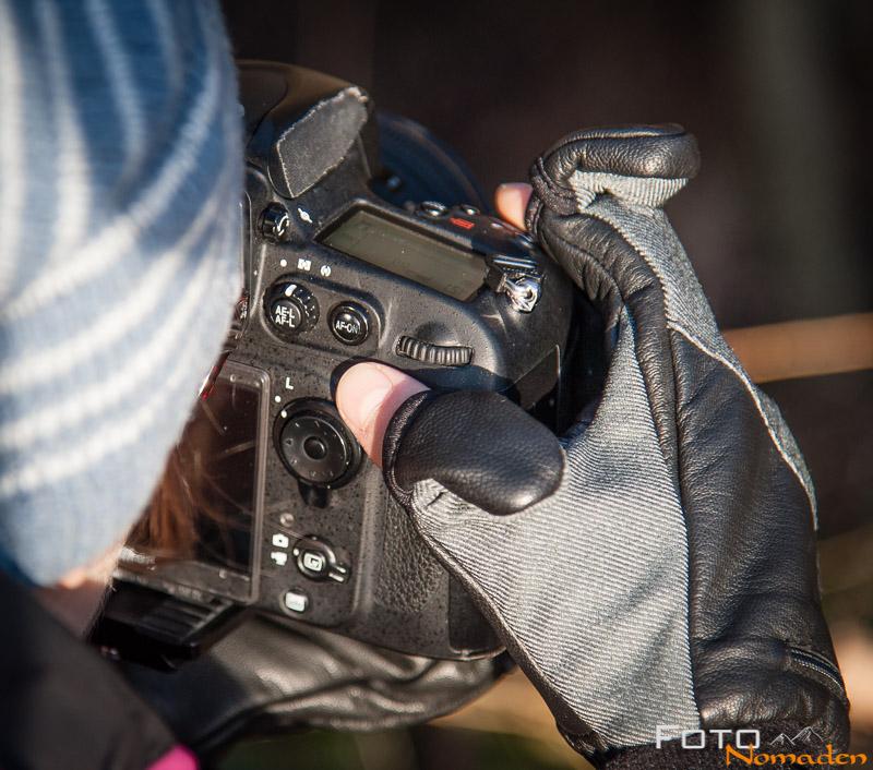 Foto Handschuhe Test Trigger Mitt Model