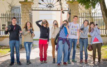 Gruppenfoto von Teilnehmern des Fotoworkshops der Fotonomaden im April 2017 in Zwettl