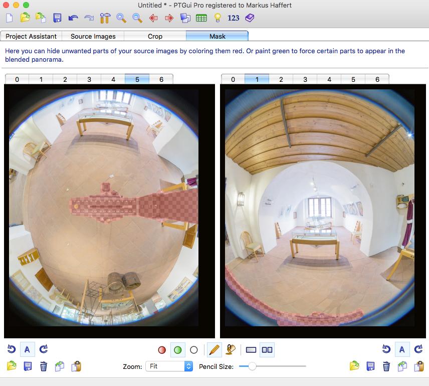 mit ptGui Panorama Software störende Bereiche maskieren