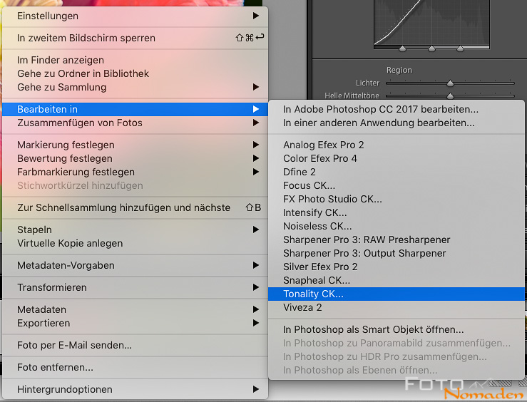 Creative Kit in Lightroom starten