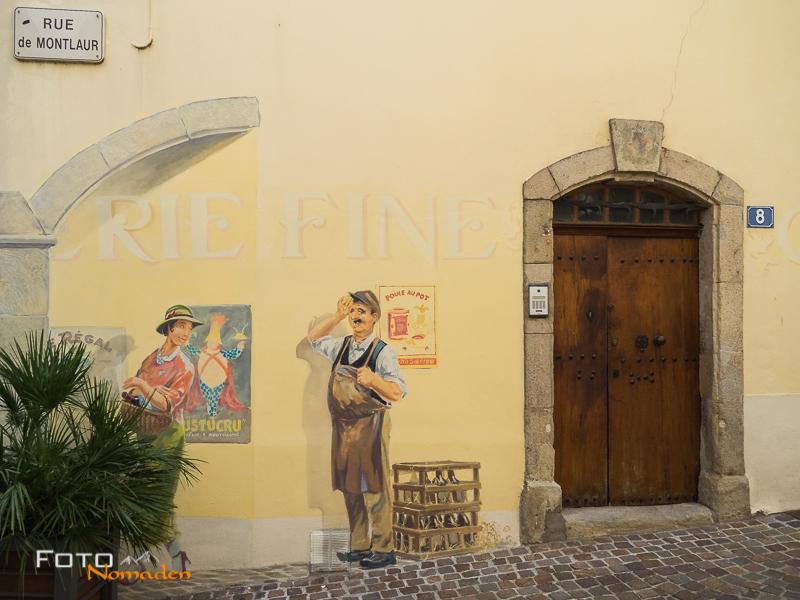 Fotonomaden Ardèche Reiseroute Hauswand