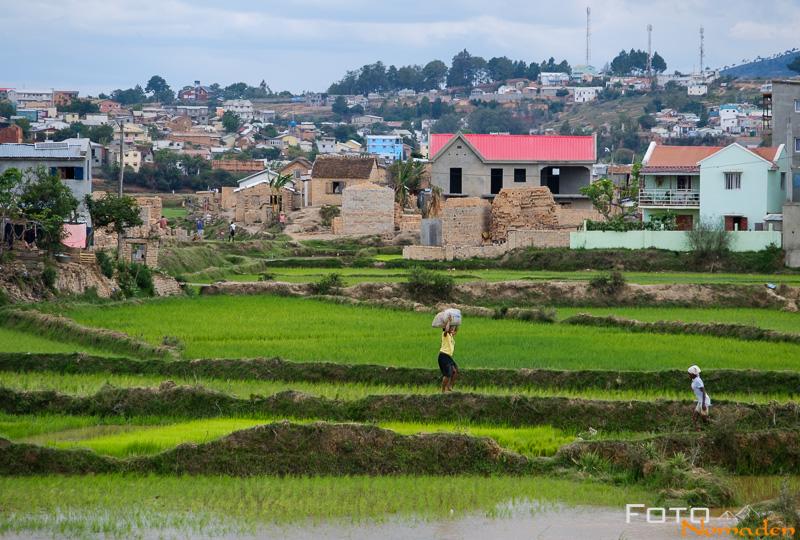 Madagaskar Reiseroute - Reisfelder Antananarivo