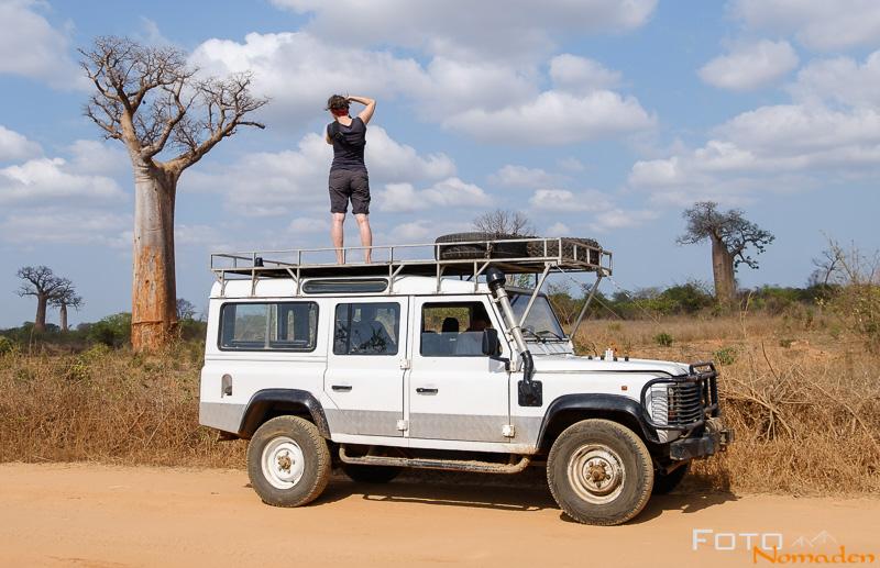 Madagaskar Reiseroute Fotonomaden Fotografieren am Landrover