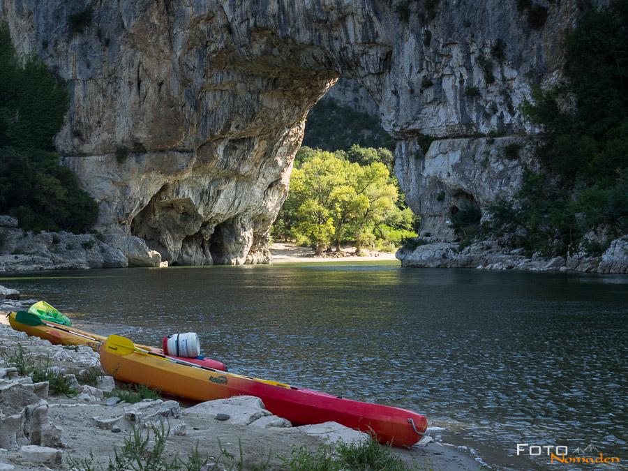 Fotonomaden Ardèche Reiseroute Pont d'Arc