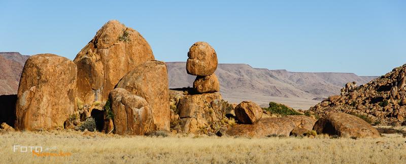 Fotonomaden Namibia Reiseroute Granitfelsen Tirasberge