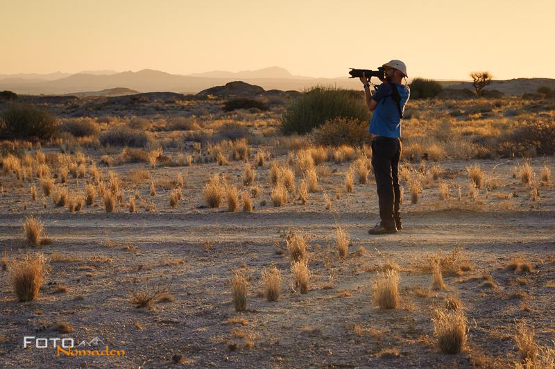 Fotonomaden Namibia Reiseroute Wüstenquell Naturreservat Abendstimmung