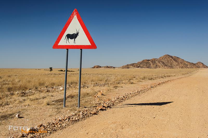 Fotonomaden Namibia Reiseroute Straßenschild