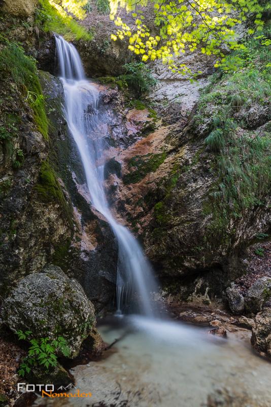 Fotonomaden Querformat oder Hochformat Wasserfall