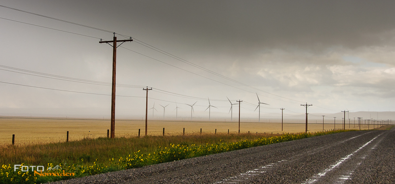 Fotonomaden Querformat oder Hochformat Panorama Strommasten