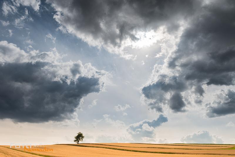 Fotonomaden Querformat oder Hochformat Wolken