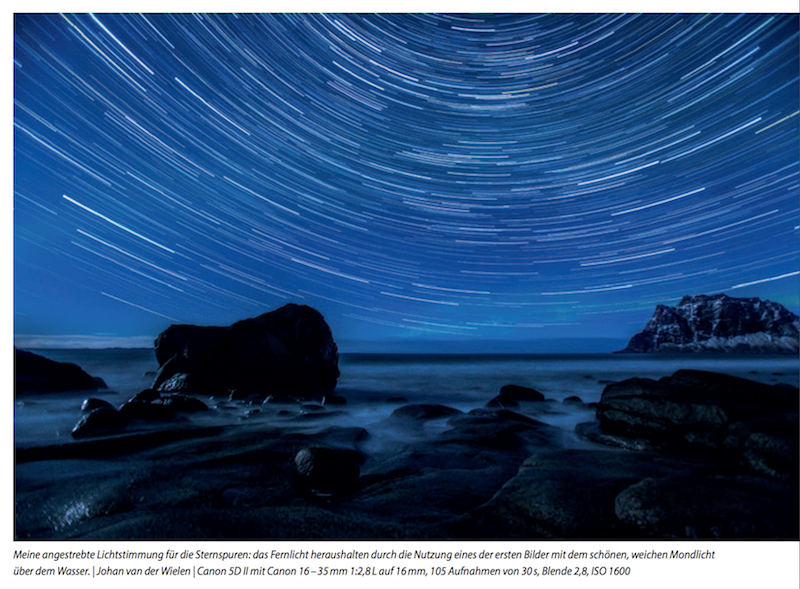 Praxisbuch außergewöhnliche Naturfotografie Sternspuren