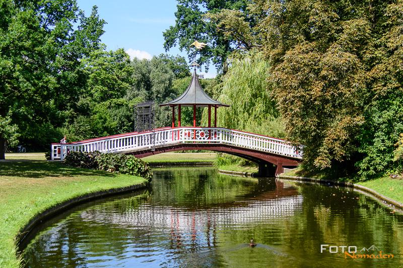 Chinesische Brücke in Frederiksberg Have in Kopenhagen