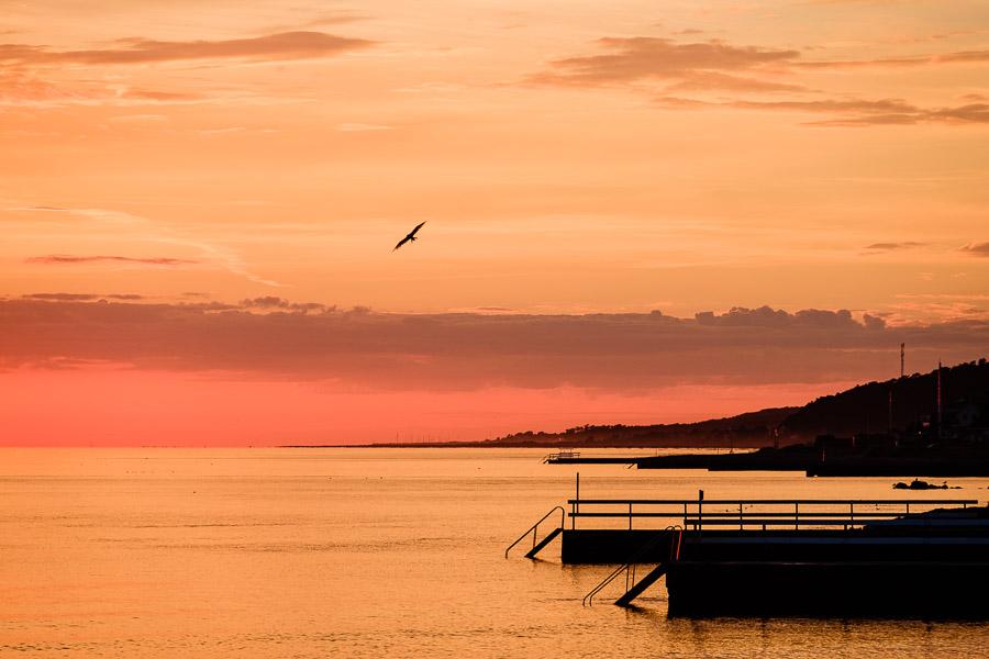 Sonnenuntergang - Helsingborg/Schweden Fotonomaden.com