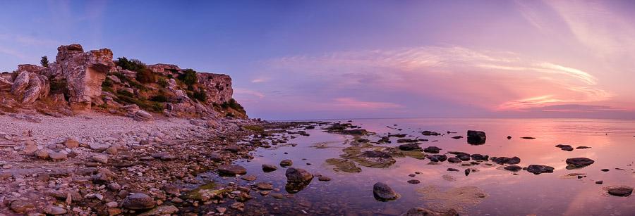 Sonnenuntergang bei Hoburgen - Gotland/Schweden Fotonomaden.com