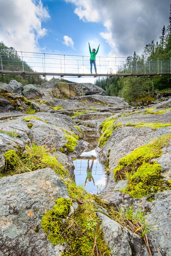 Schwedens größte Flußfälle - Handölsforsarna Fotonomaden.com