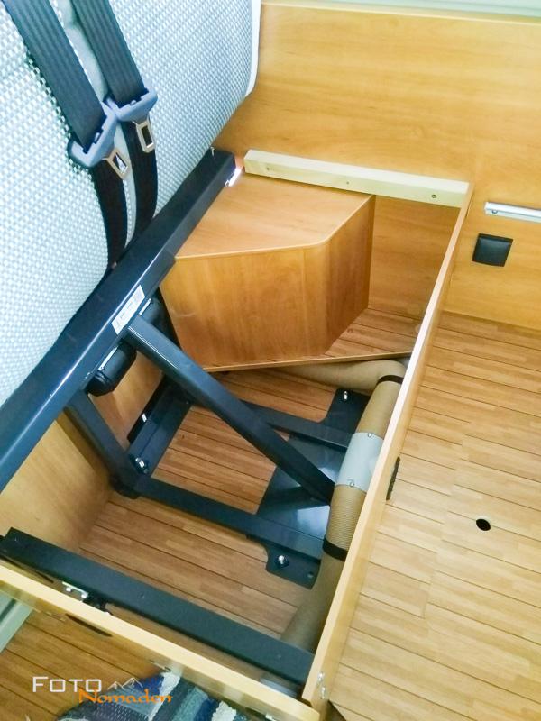 Verkleidung unter der Sitzbank