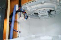 Wasserschlauch und Strom