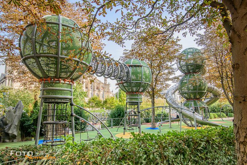 Paris Fotospot Jardin Nelson Mandela: Terrain d'Aventure Spielplatz