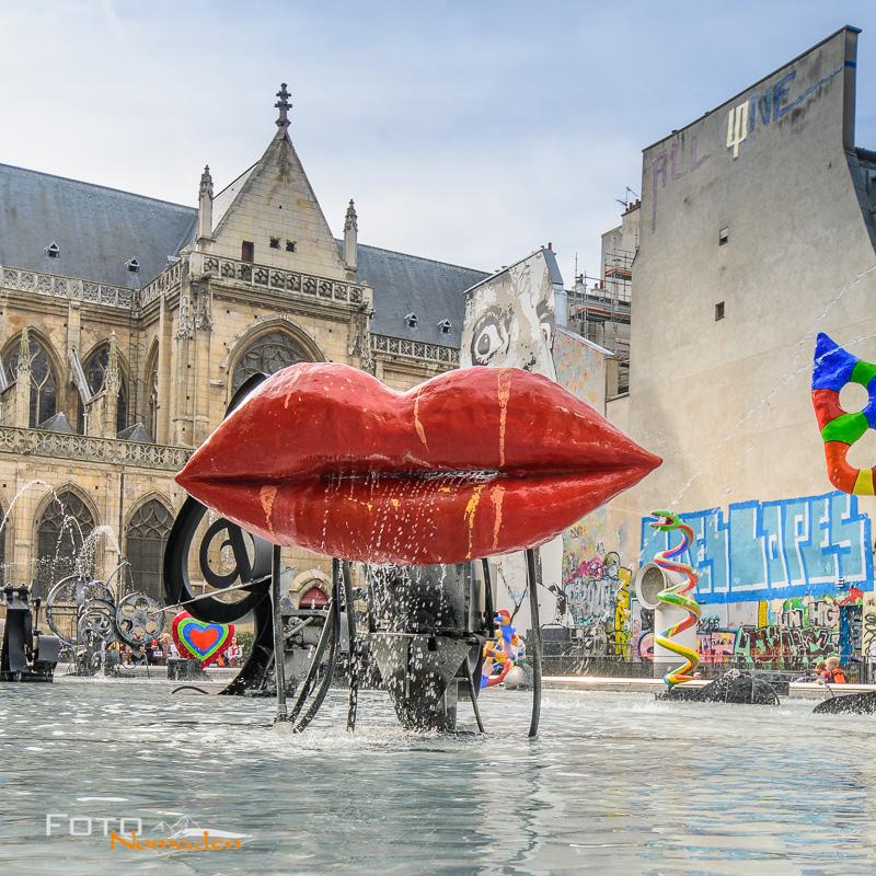 Place und fontaine Stravinsky in Paris
