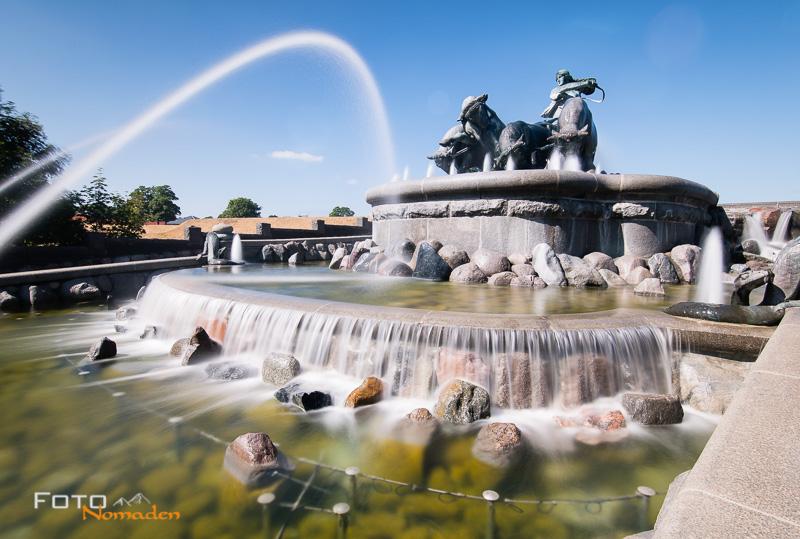 Städte fotografieren Brunnen Kopenhagen Langzeitbelichtung