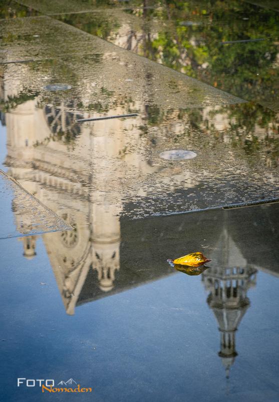 Städte fotografieren: Spiegelung Paris - Fotonomaden