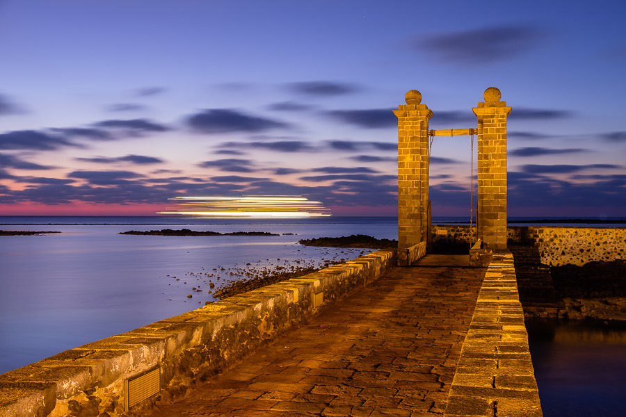 Morgendämmerung, Puenta de las Bolas, Arrecife, Lanzarote