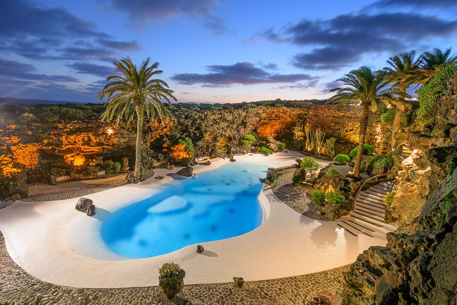 Jameos del Agua Abendstimmung, Lanzarote