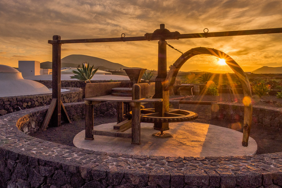Mühle bei Sonnenuntergang, Monumento al Campesino, Lanzarote