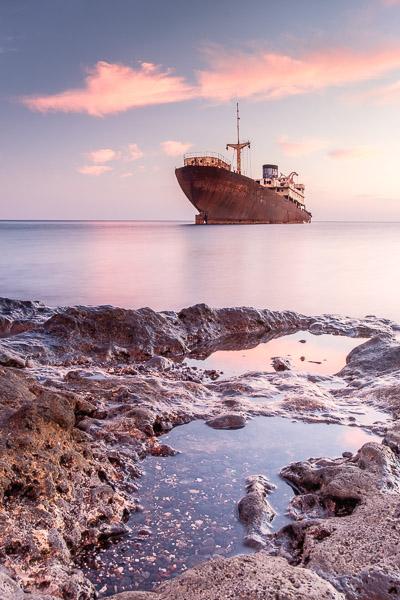 Telamon Schiffswrack Abendstimmung, Lanzarote