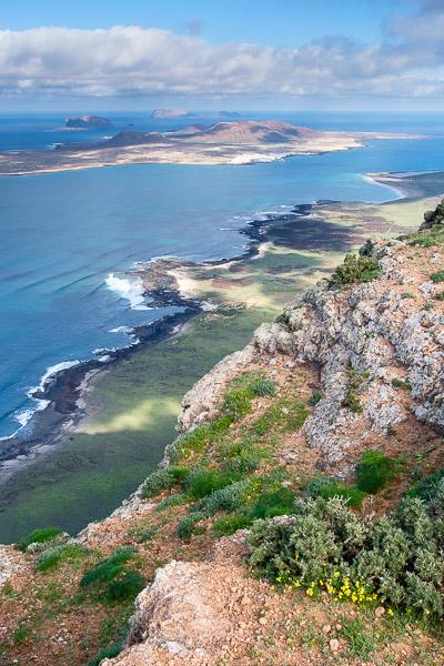 Blick auf La Graciosa vom Famaramassiv, Lanzarote