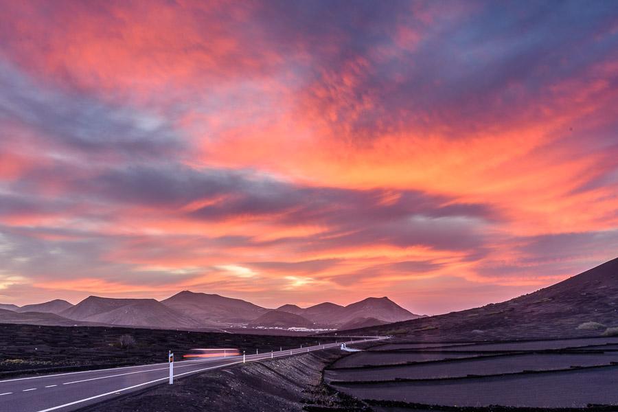 Sonnenuntergang, La Geria, Lanzarote