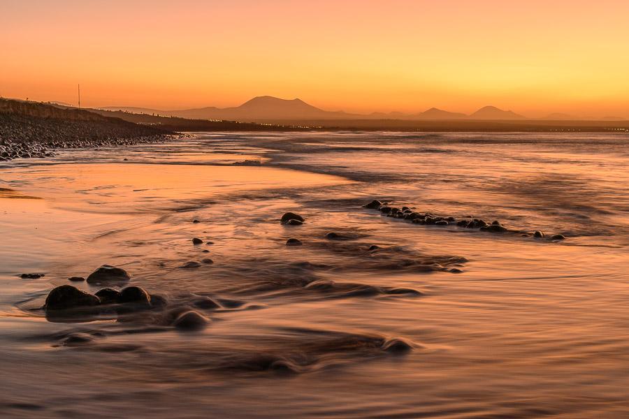 Sonnenuntergang Famara Beach, Lanzarote