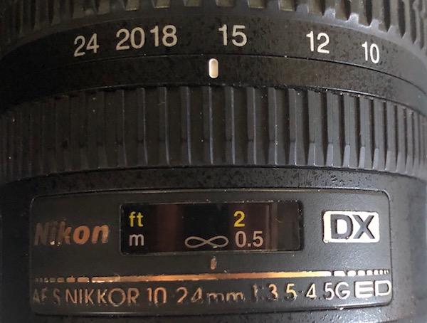Unendlich Einstellung auf der Nikon