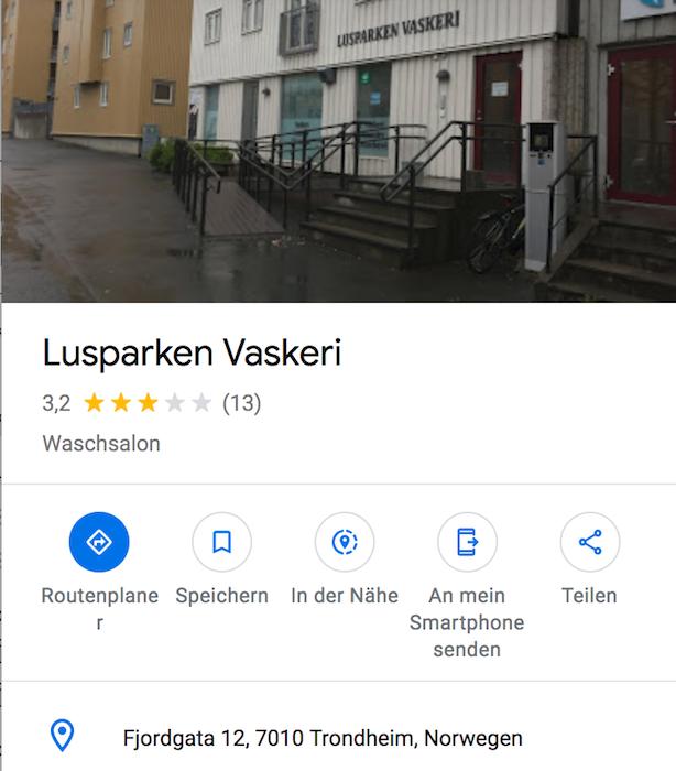 Selfservice Wäscherei Trondheim