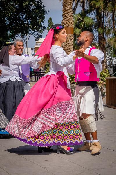 Traditionelle Tanzaufführung in Gran Canaria, Eventfotgrafie - Fotonomaden