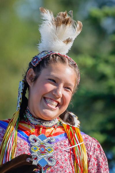 Eventfotografie Porträt einer amerikanischen Ureinwohnerin - Fotonomaden