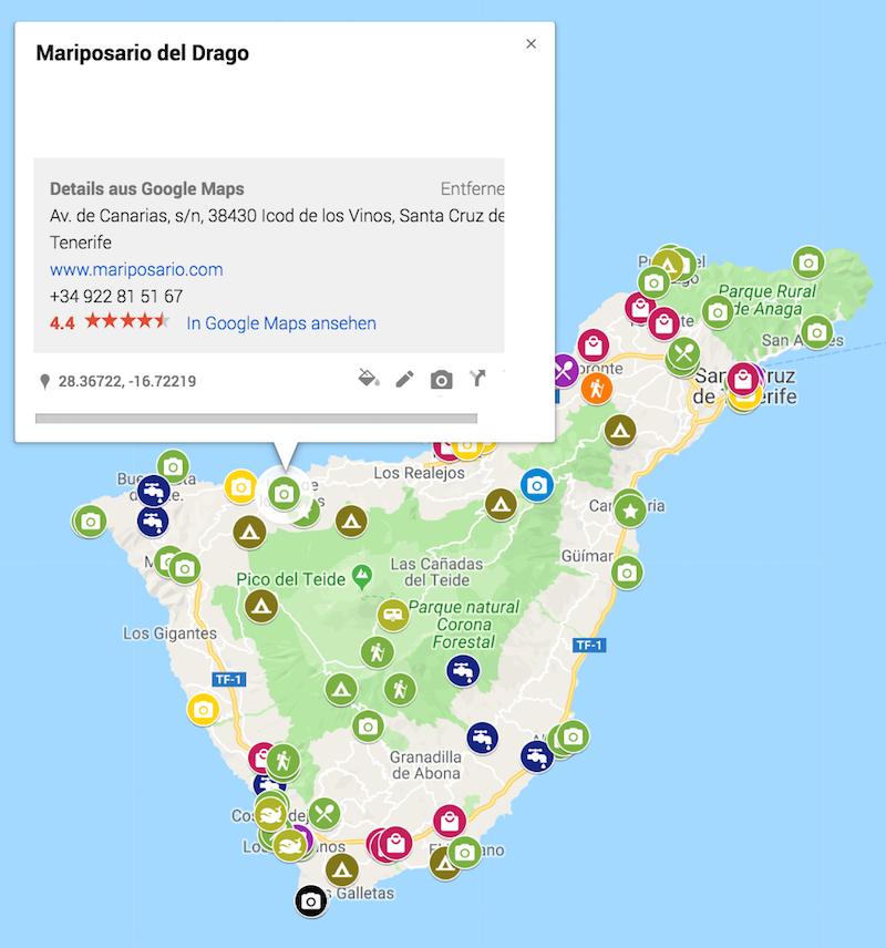 Google My Maps Detail