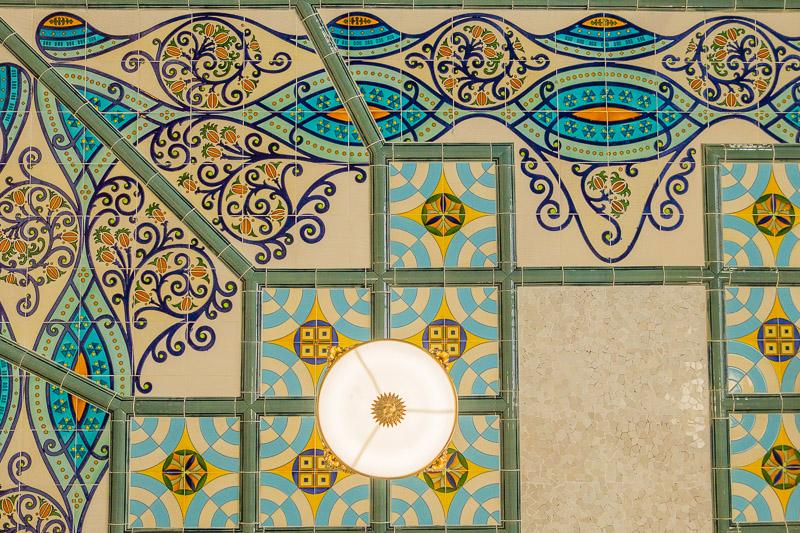 Detail Jugendstildecke Estacion del Norte Valencia Sehenswürdigkeiten