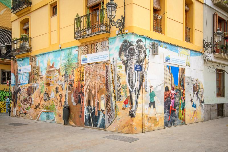 Streetart Placa del Carme Valencia Sehenswürdigkeiten