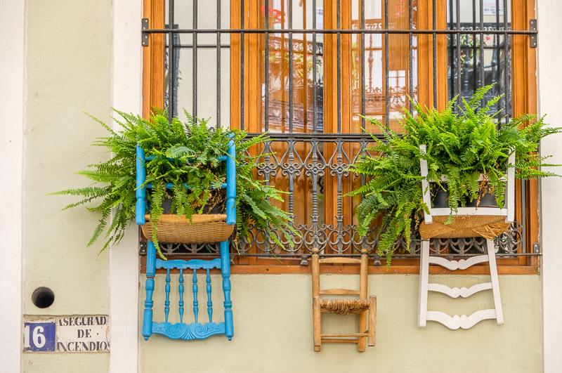 Upcycling Stuhl als Blumentopf Valencia