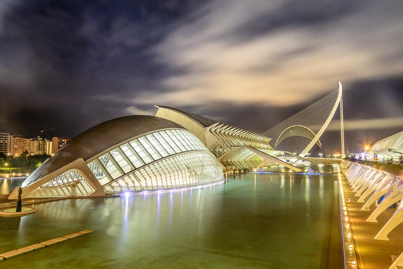 L'Hemisfèric Nachtaufnahme - Valencia Sehenswürdigkeiten