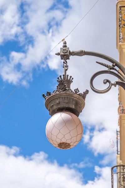 Antike Straßenlaterne Valencia Sehenswürdigkeiten