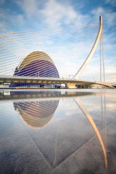 Àgora Spiegelung Valencia Sehenswürdigkeiten
