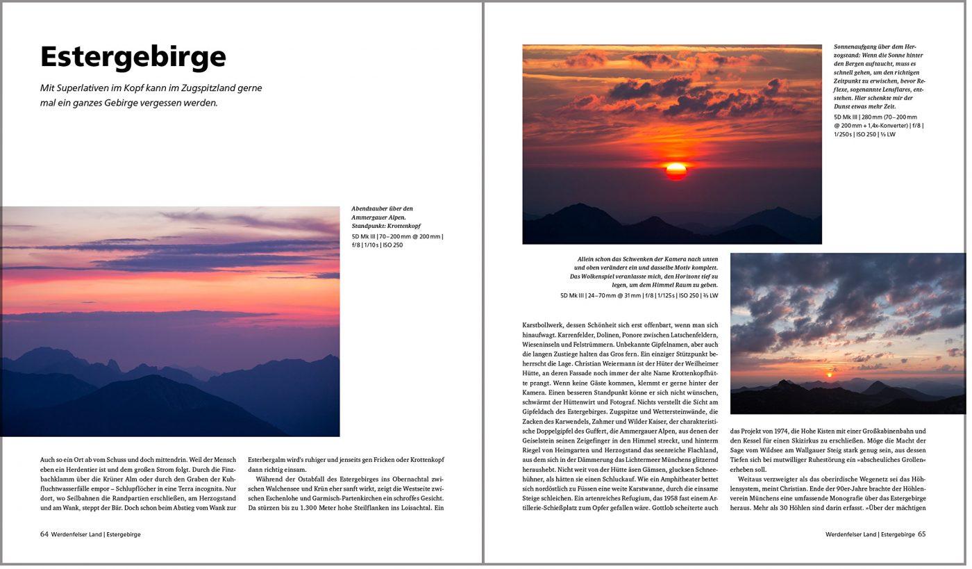 Fotografieren in den Alpen Estergebirge