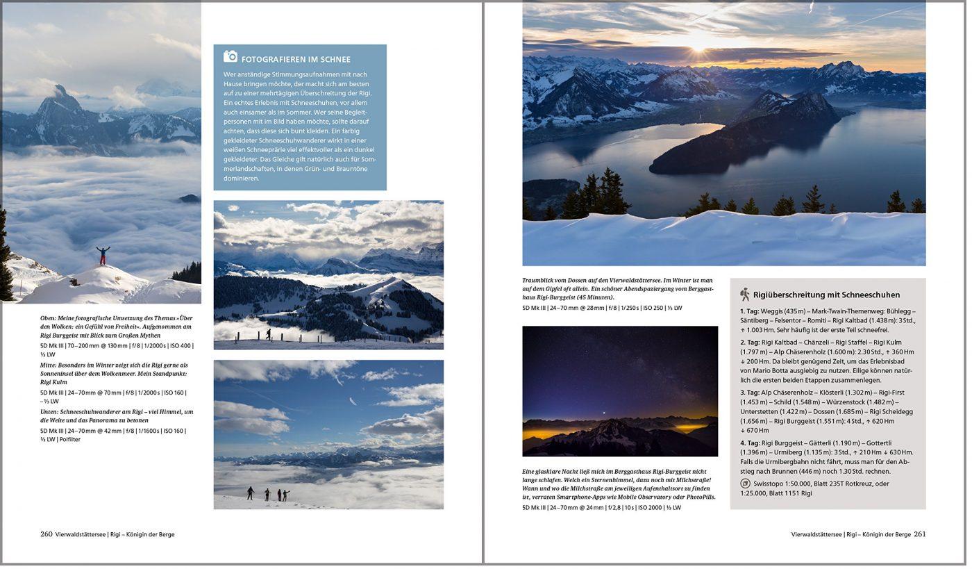 Fotografieren in den Alpen Buchseite