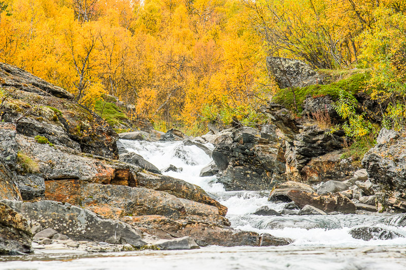 Fluß in Lappland zur Ruska