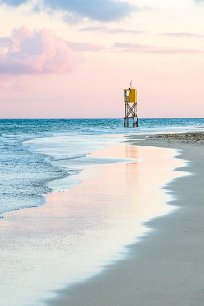 Strandbilder Fototipps - Rosa Stimmung am Strand Fotonomaden
